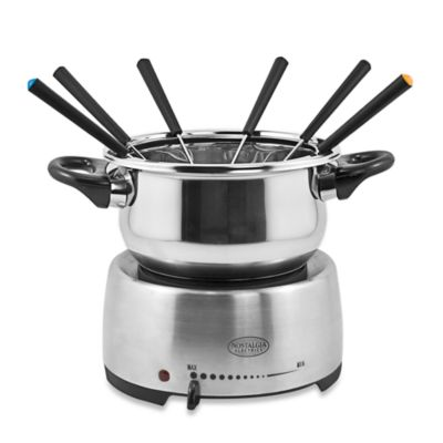 Nostalgia™ Electrics Stainless Steel Electric Fondue Pot