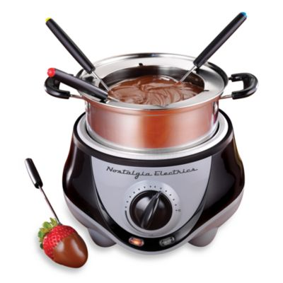 Nostalgia Electrics™ Mini Stainless Steel Electric Fondue Pot