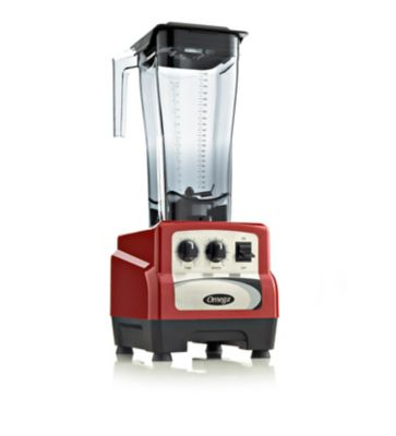 Omega® BL490R 82-Ounce 3-HP Variable Speed Commercial Blender with Advanced Timer in Red