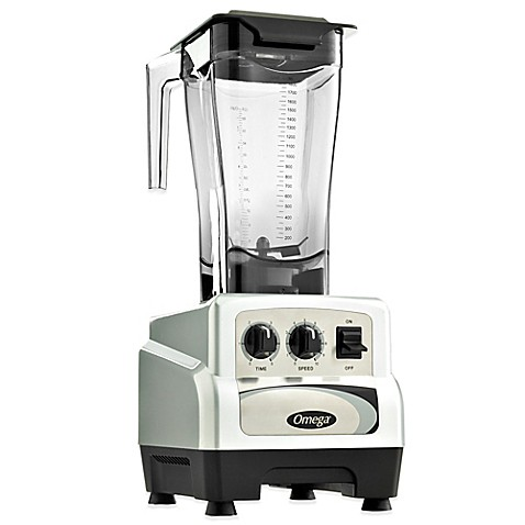 Omega® BL480S 64 oz. 3-HP Variable Speed Commercial Blender with Advanced Timer in Silver