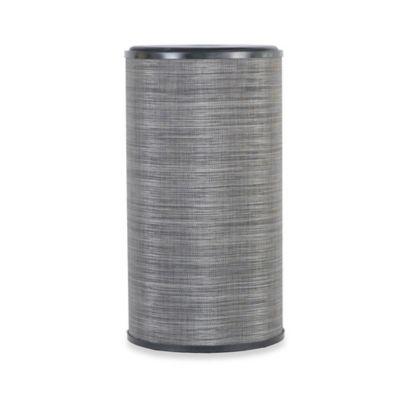 Lamont Home™ Cambria Round Hamper in Black/Silver