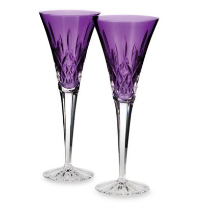 Waterford® Lismore Jewels 6.5-Ounce Amethyst Toasting Flutes (Set of 2)