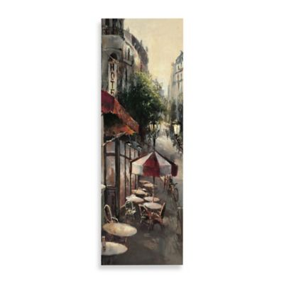 Promenade Cafe Detail Printed Canvas Wall Art