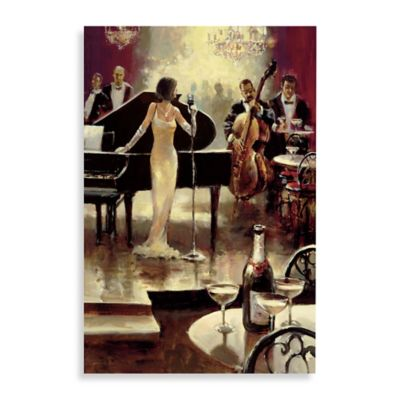 Jazz Night Out Printed Canvas Wall Art