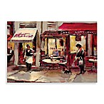 Sidewalk Bistro Printed Canvas Wall Art