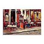 Sidewalk Cafe Printed Canvas Wall Art