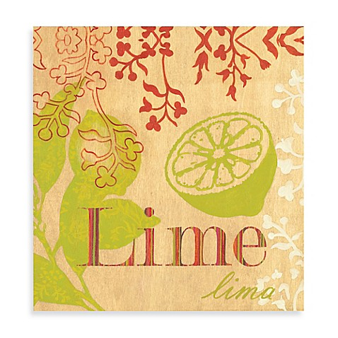 Lime Printed Canvas Wall Art