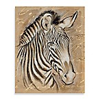 Safari Printed Canvas Wall Art in Zebra