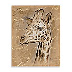 Safari Printed Canvas Wall Art in Giraffe