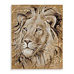 Safari Printed Canvas Wall Art in Lion
