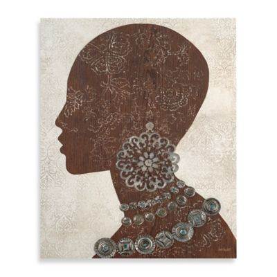 Global Profile Silhouette Printed Canvas Wall Art