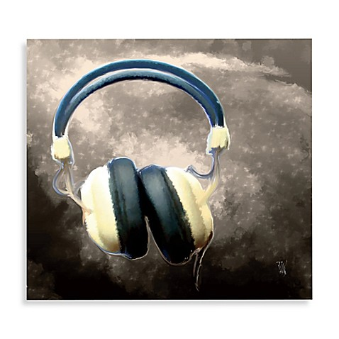 Headphones Printed Canvas Wall Art