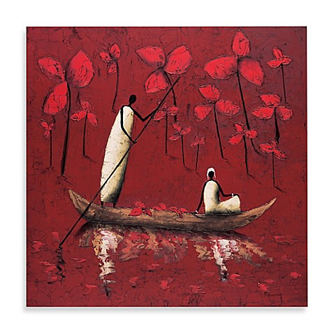Crimson River Printed Canvas Wall Art