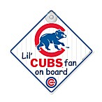 Team ProMark® Lil' Fan On Board Sign in Chicago Cubs