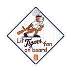 Detroit Tigers Team ProMark® Lil' Fan On Board Sign