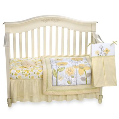 NoJo® Bright Blossoms 8-Piece Crib Bedding Set