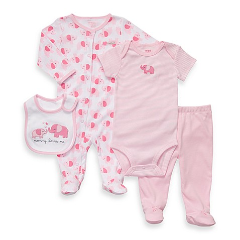 Carter's® Pink Elephant 4-Piece Outfit Set