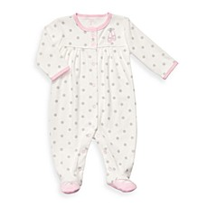 Carter's® Ivory Ballet Terry Snap-Up Sleep & Play