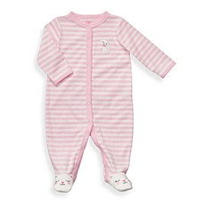 Carter's® Light Pink Cat Terry Snap-Up Sleep & Play