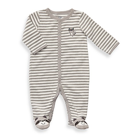 Carter's® Grey Raccoon Terry Snap-Up Sleep & Play