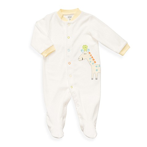 Carter's® Size 3 Months Giraffe Terry Snap-Up Sleep & Play in Ivory
