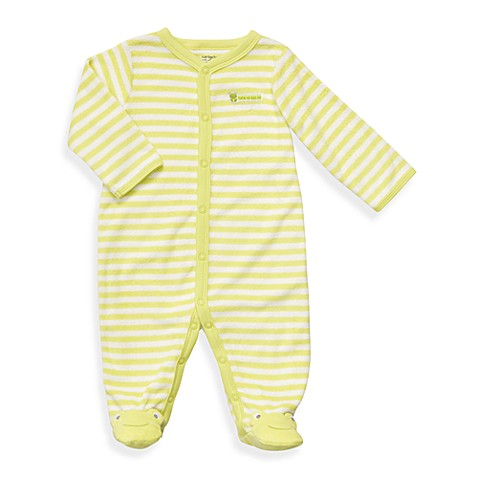 Carter's® Green Frog Terry Snap-Up Sleep & Play