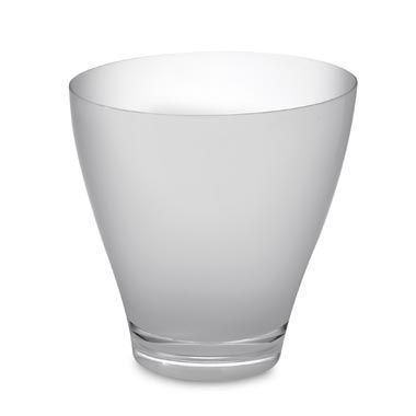 Droplet Wastebasket in Clear