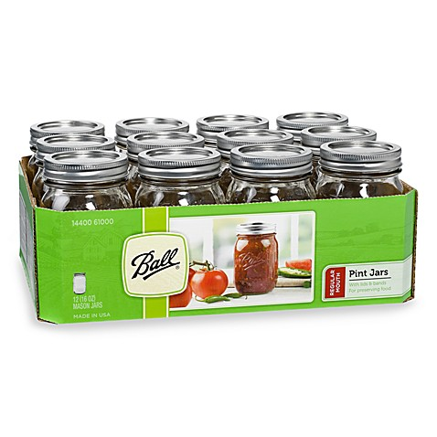 Ball® Regular Mouth 12-Pack 1-Pint Glass Canning Jars