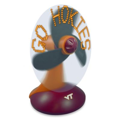 Virginia Tech Light Up Desktop Message Fan
