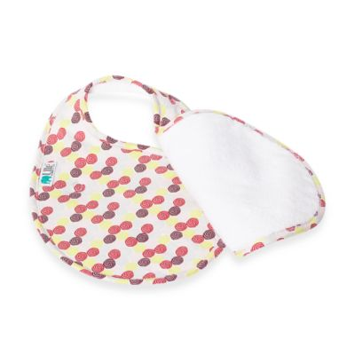 Bebe au Lait® Lille Quib Quadruple Bib in Swirls Girl