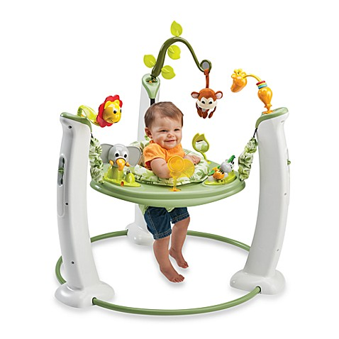 ExerSaucer® by Evenflo® Jump & Learn™ Stationary Jumper in Safari Friends