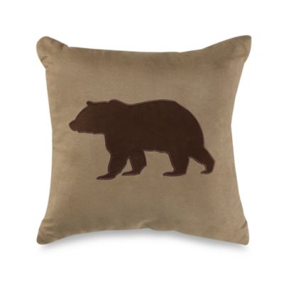 Croscill® Dakota Bear Fashion Throw Pillow