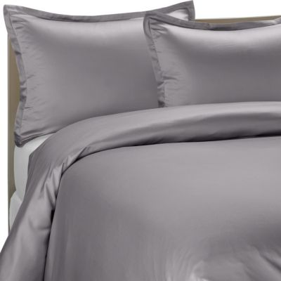 Pure Beech® Modal Sateen King Duvet Cover Set in Grey