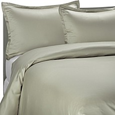 Pure Beech 174 Modal Sateen Duvet Cover Set In Sage Bed