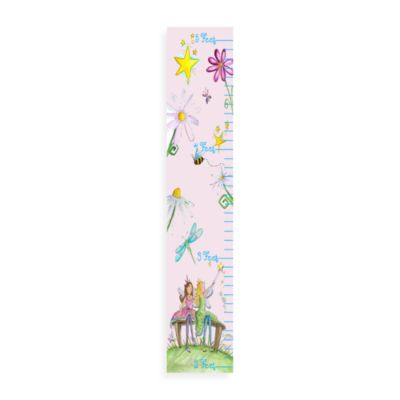 Stupell Industries Fairy Floral Pink Growth Chart