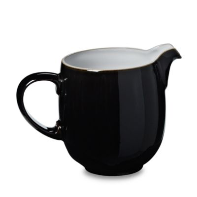 Denby Jet 0.7-Liter Sauce Jug in Black/White