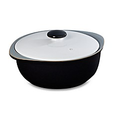 Denby Jet 2.2-Liter Covered Casserole in Black/White
