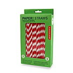 Kikkerland® Box of 144 Red Paper Straws