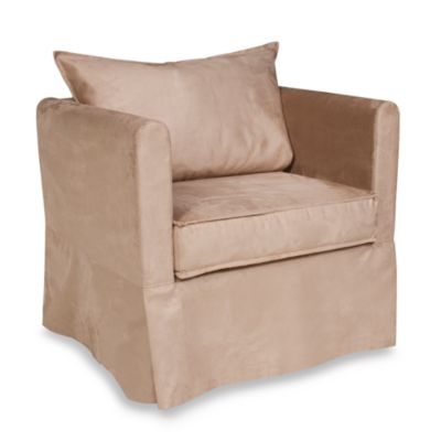 Howard Elliott® Alexandria Chair with Microsuede Sandstone Cover