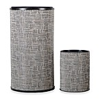 Lamont Home™ Zoe Round Hamper and Waste Basket Set in Silver/Black