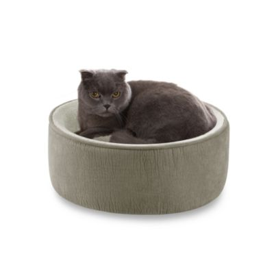 JLA Pets Soft Touch™ 16-Inch Kitty Kup in Sage Elephant Skin