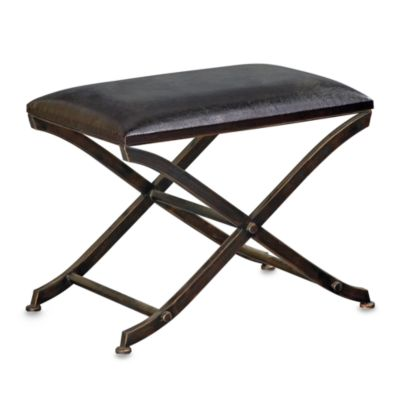 Howard Elliott® Ottoman with Metal X Frame