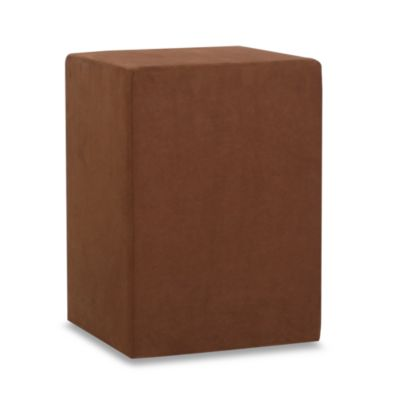 Howard Elliot® No Tip Block Tall Ottoman in Microsuede Chocolate