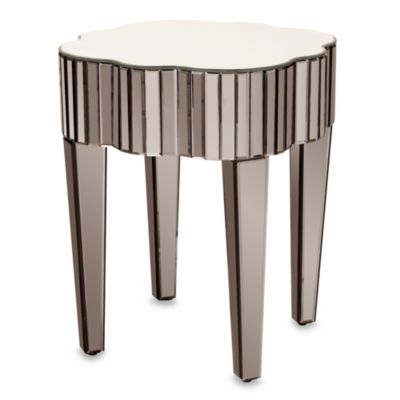 Howard Elliott® Pewter Mirrored Side Table