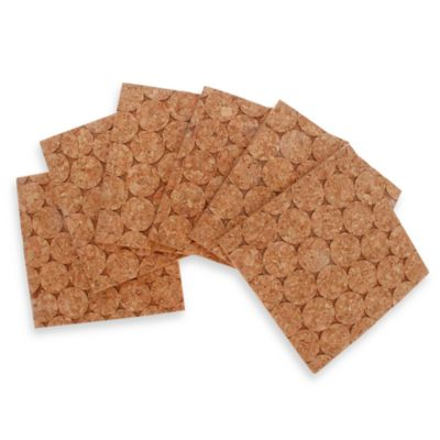 Thirstystone® Dotted Square Cork Coasters (Set of 6)