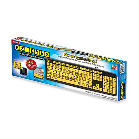 EZ Eyes™ Large Print Computer Keyboard