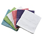 Lasting Color Assorted 100% Cotton Washcloth Pack (Set of 6)