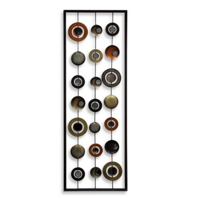 Metal Mirror Wall Decor in Circle Panel II