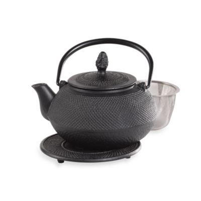 Infuse® 16-Ounce Asian Cast Iron Tea Pot with Trivet by Tabletops Unlimited®