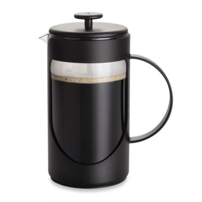 BonJour® 8-Cup Ami-Matin Unbreakable BPA-Free French Press in Black